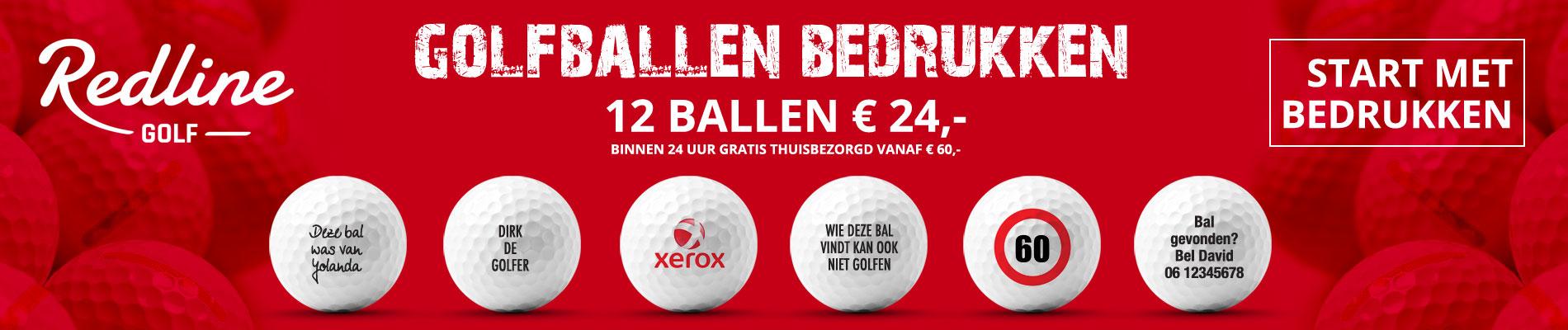 Redline golfballen bedrukken