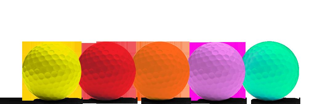 gekleurde golfballen van Redline