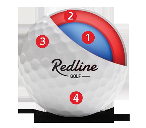 doorsnede 59 Tour | betaalbare urethane golfbal