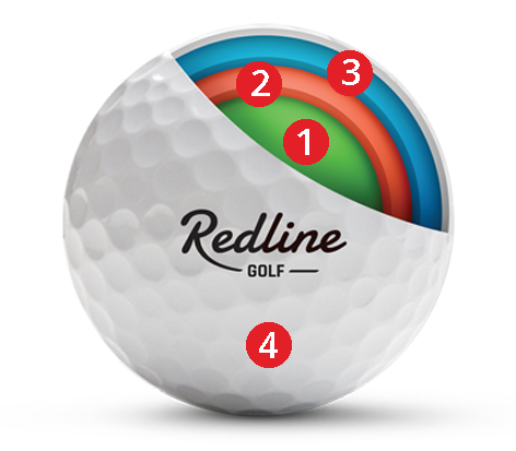 doorsnede 59 Tour | meest betaalbare urethane golfbal