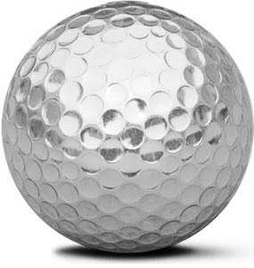 golfbal zilver