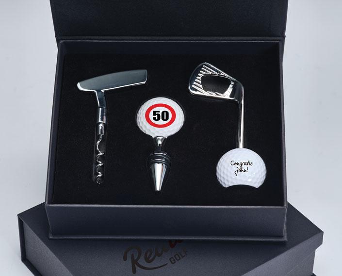 Golfcadeaubox met flesopeners